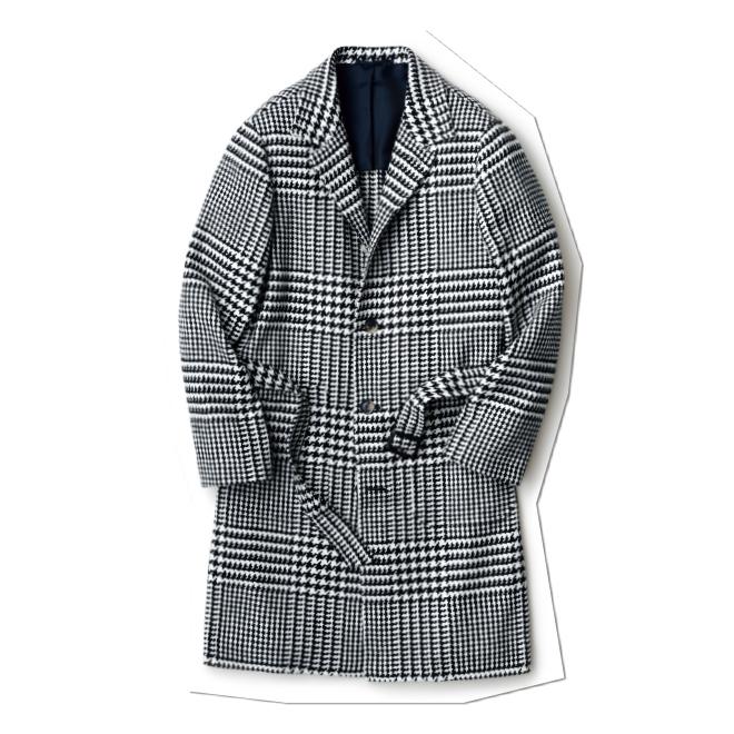 大きなグレンチェックやゆったりしたシルエット、軽やかな素材使いなど、クラシックをモダンに解釈したベルテッドコート。ふわっと羽織るように着るのがおすすめです。