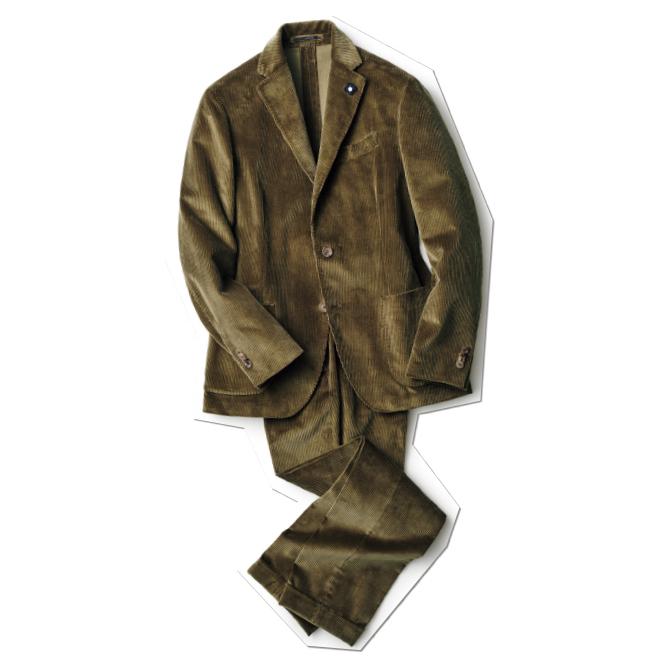 タイドアップはもちろんラフな着崩しにまで対応する、汎用性抜群のコーデュロイスーツ。オーソドックスな見た目ながら、軽快な仕立てによりモダンな佇いの一着。