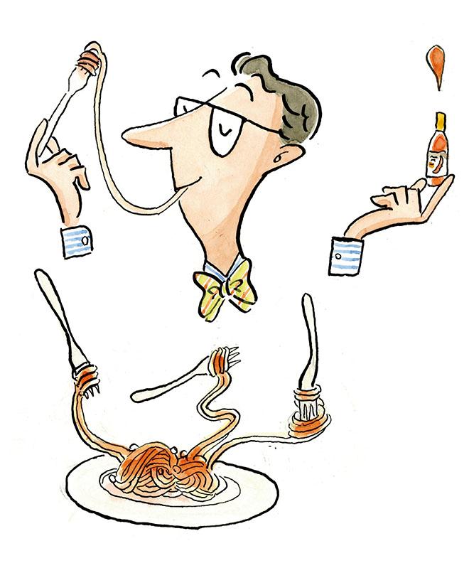 食べ方を変え、皿でいくつもの味を楽しむ。